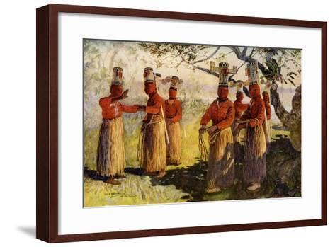 Masked Dancers of Opaina, River Apaporis, Brazil--Framed Art Print