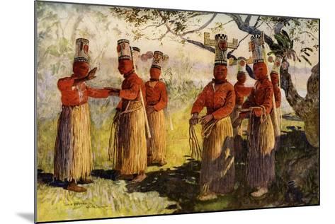 Masked Dancers of Opaina, River Apaporis, Brazil--Mounted Giclee Print