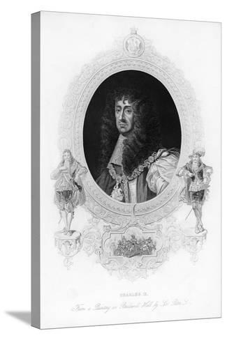 King Charles II, the Merry Monarch-Peter Lely-Stretched Canvas Print