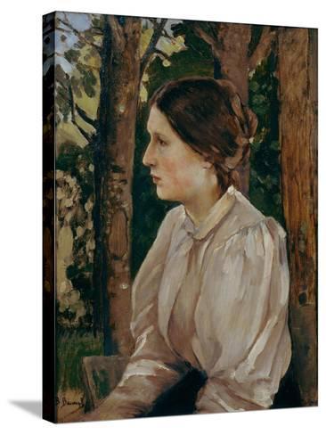 Portrait of Tatyana Viktorovna Vasnetsova, The-Viktor Mikhaylovich Vasnetsov-Stretched Canvas Print