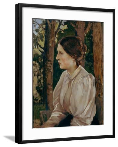 Portrait of Tatyana Viktorovna Vasnetsova, The-Viktor Mikhaylovich Vasnetsov-Framed Art Print