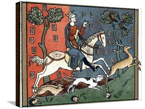 A Plantagenet King of England Out Hunting--Stretched Canvas Print