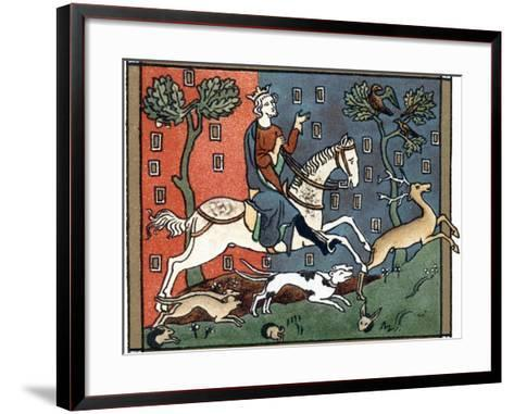 A Plantagenet King of England Out Hunting--Framed Art Print