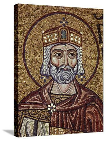 King David (Detail of Interior Mosaics in the St. Mark's Basilic), 12th Century--Stretched Canvas Print