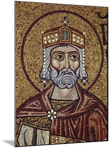 King David (Detail of Interior Mosaics in the St. Mark's Basilic), 12th Century--Mounted Giclee Print