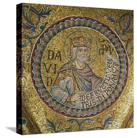 King David (Detail of Interior Mosaics in the St. Mark's Basilic), 13th Century--Stretched Canvas Print