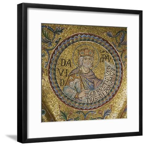 King David (Detail of Interior Mosaics in the St. Mark's Basilic), 13th Century--Framed Art Print