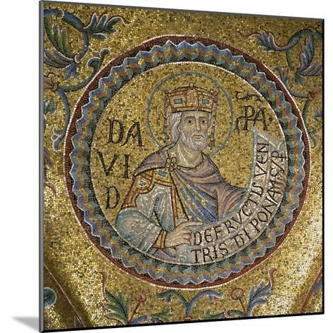 King David (Detail of Interior Mosaics in the St. Mark's Basilic), 13th Century--Mounted Giclee Print