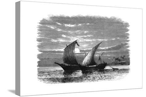 Arab Dhows on the Red Sea, C1890--Stretched Canvas Print