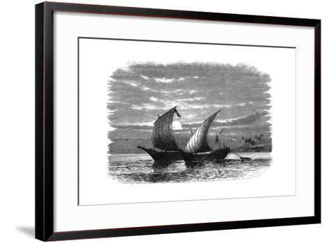 Arab Dhows on the Red Sea, C1890--Framed Art Print