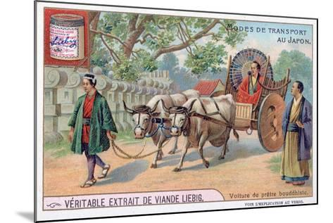 Modes of Transport in Japan, Convey of a Buddhist Priest, 19th Century-Justus Freiherr von Liebig-Mounted Giclee Print