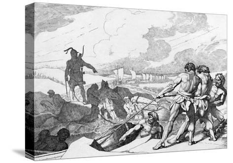 Oleg of Novgorod's Campaign Against Constantinople, before 1839-Fyodor Antonovich Bruni-Stretched Canvas Print