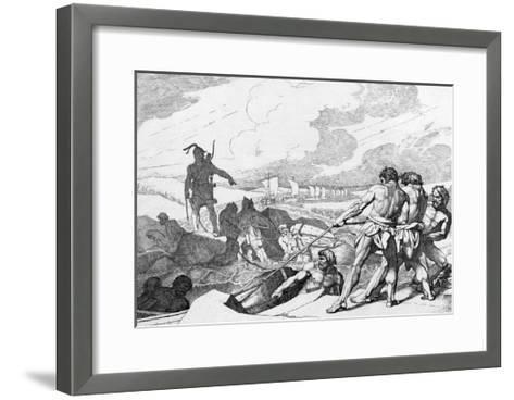 Oleg of Novgorod's Campaign Against Constantinople, before 1839-Fyodor Antonovich Bruni-Framed Art Print