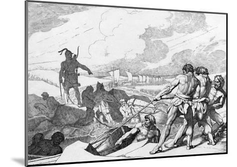 Oleg of Novgorod's Campaign Against Constantinople, before 1839-Fyodor Antonovich Bruni-Mounted Giclee Print
