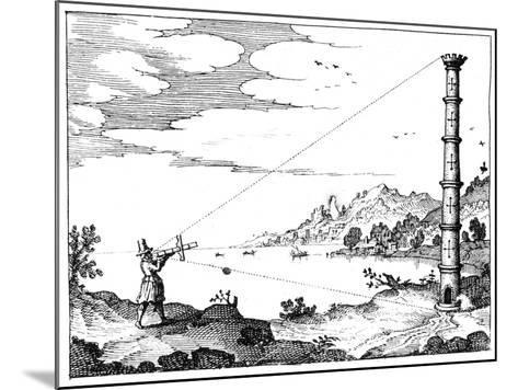 Using a Cross-Staff to Measure the Height of a Tower, 1617-1619--Mounted Giclee Print