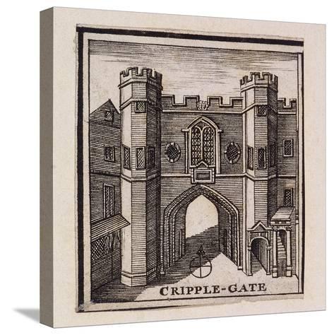 Cripplegate, London, 1750--Stretched Canvas Print
