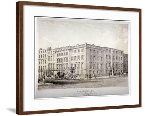 Mivart's Hotel, Brook Street, Near Grosvenor Square, Westminster, London, C1850-GE Madeley-Framed Art Print