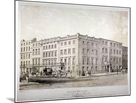 Mivart's Hotel, Brook Street, Near Grosvenor Square, Westminster, London, C1850-GE Madeley-Mounted Giclee Print