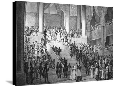 Consecration of Napoleon and Coronation of Josephine by Pope Pius VII, 2nd December 1804--Stretched Canvas Print
