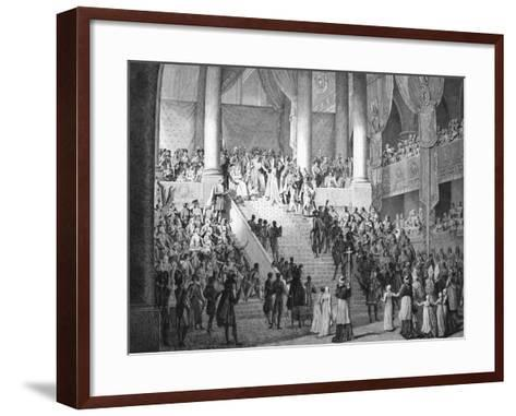 Consecration of Napoleon and Coronation of Josephine by Pope Pius VII, 2nd December 1804--Framed Art Print