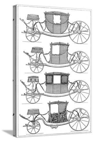 Carriages, 1885--Stretched Canvas Print