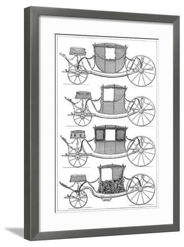 Carriages, 1885--Framed Art Print
