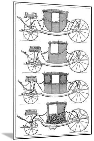 Carriages, 1885--Mounted Giclee Print