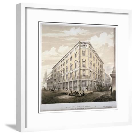 Messrs J&R Morley's Warehouses, Corner of Wood Street and Gresham Street, London, C1840-Martin & Hood-Framed Art Print