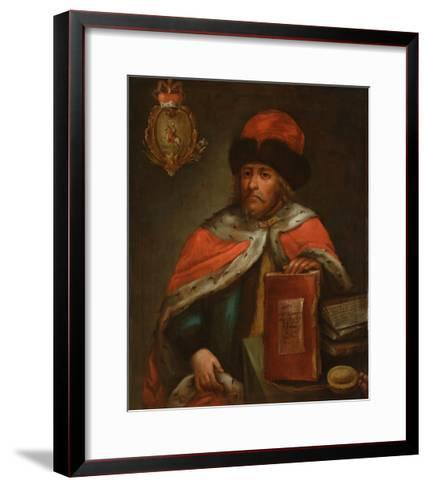 Portrait of Prince Vasily Vasilyevich Galitzine (1643?171), End of 17th C--Framed Art Print