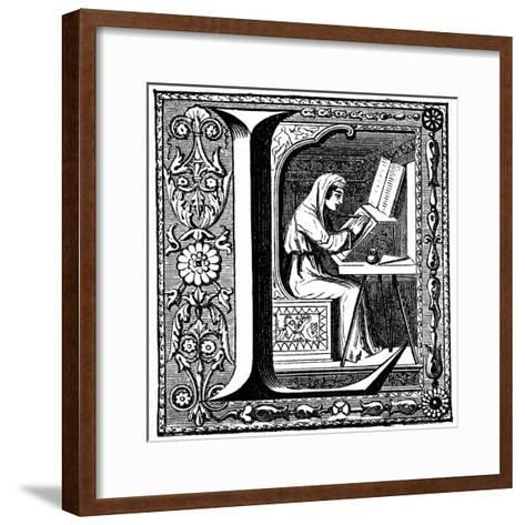 Initial Letter L--Framed Art Print