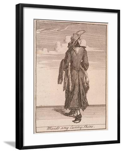 Maids Any Cunny Skins, Cries of London-Marcellus Laroon-Framed Art Print