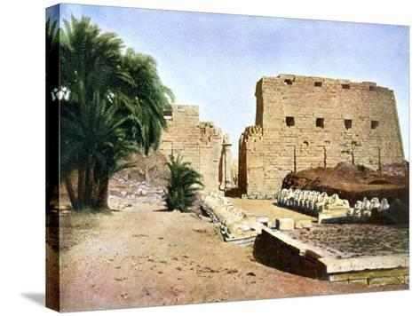 Grand Temple of Amun-Re, Karnak, Luxor, Egypt, 20th Century--Stretched Canvas Print