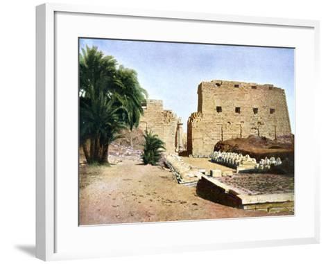 Grand Temple of Amun-Re, Karnak, Luxor, Egypt, 20th Century--Framed Art Print
