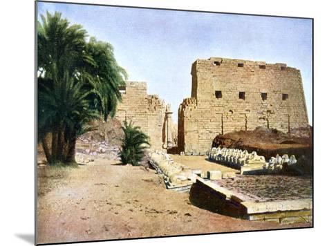 Grand Temple of Amun-Re, Karnak, Luxor, Egypt, 20th Century--Mounted Giclee Print