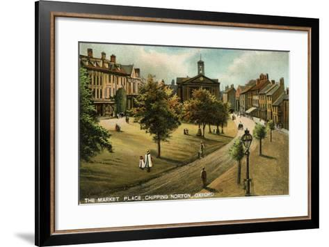 Market Place, Chipping Norton, Oxfordshire, Late 19th or Early 20th Century- Langsdorff and Co-Framed Art Print