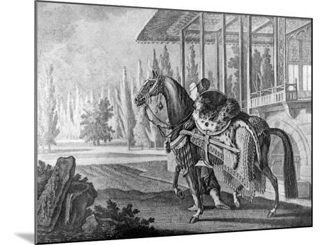 Turkish Pasha's Arabian Hack, 1722--Mounted Giclee Print