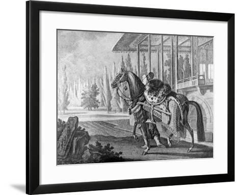 Turkish Pasha's Arabian Hack, 1722--Framed Art Print