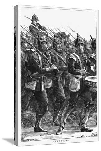 Prussian Soldiers on the March, Franco-Prussian War, September 1870--Stretched Canvas Print