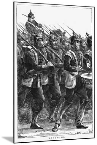 Prussian Soldiers on the March, Franco-Prussian War, September 1870--Mounted Giclee Print