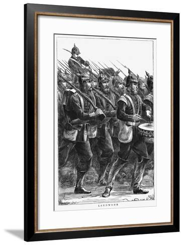 Prussian Soldiers on the March, Franco-Prussian War, September 1870--Framed Art Print
