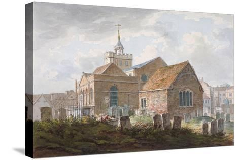 South-East View of the Church of St Mary Magdalene, Richmond, Surrey, C1840--Stretched Canvas Print