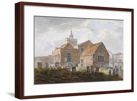 South-East View of the Church of St Mary Magdalene, Richmond, Surrey, C1840--Framed Art Print