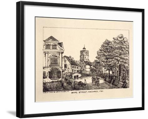 Mare Street, Hackney, London, 1731-C Read-Framed Art Print