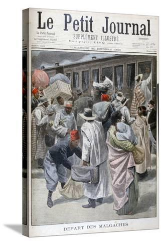 Departure of the Madagascans, Universal Exhibition of 1900, Paris, 1900--Stretched Canvas Print