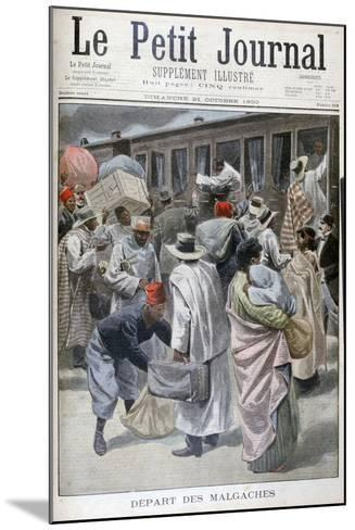 Departure of the Madagascans, Universal Exhibition of 1900, Paris, 1900--Mounted Giclee Print