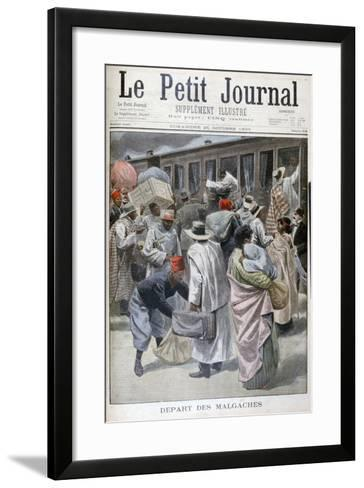 Departure of the Madagascans, Universal Exhibition of 1900, Paris, 1900--Framed Art Print