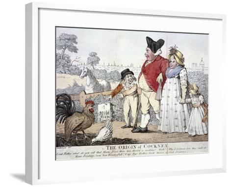 The Origin of Cockney,' London, C1800-Isaac Cruikshank-Framed Art Print