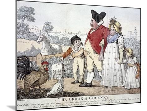 The Origin of Cockney,' London, C1800-Isaac Cruikshank-Mounted Giclee Print