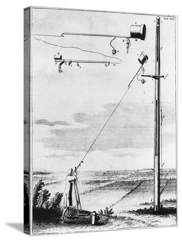 Refracting Telescope Without a Tube, Designed by Christiaan Huyghens C1650--Stretched Canvas Print