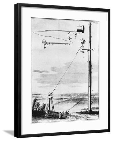 Refracting Telescope Without a Tube, Designed by Christiaan Huyghens C1650--Framed Art Print
